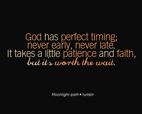 Accepting Gods Timing