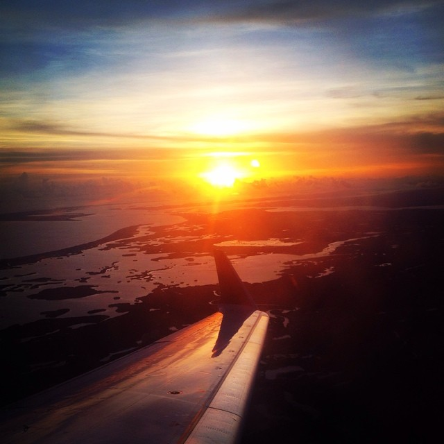 We are born in one day.  We die in one day.  We can change in one day.  And we can fall in love in one day.  Anything can happen in just one day. -Gayle Forman #sunset #flying #airplane #photography #photooftheday #igers #sky #colorful
