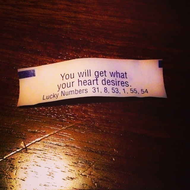 Delight yourself in the #lord and He will give you the desires of your heart. #Psalm 37:4 #fortunecookie #wisdom